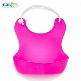 BabyJem Slabber Plastic Roze