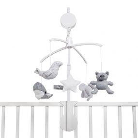 Baby's Only Muziekmobiel Zilvergrijs