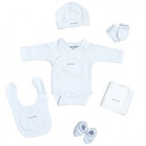Petit Villain Babyset 6 Delig Welcome Baby Wit