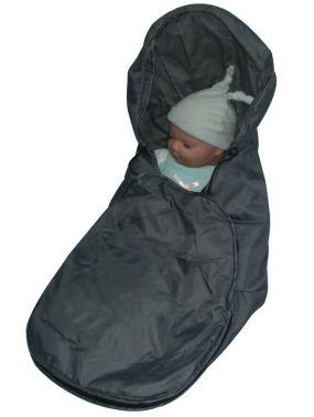 Babywellness Voetenzak Autostoel Grijs