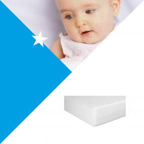 Bebies First Wiegmatras Foam Wit 40 x 80 cm