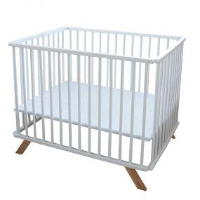 Cabino Babybox Inklapbaar Luxe Wit 75 x 100 cm