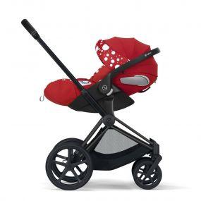 Cybex Kinderwagen 3 in 1 Priam Petticoat Dark Red
