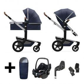 Joolz 2 In 1 Kinderwagen Day+ Classic Blue + Autostoel + Adapterset + Base + Voetenzak