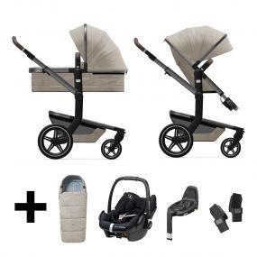Joolz 3 In 1 Kinderwagen Day+ Timeless Taupe + Autostoel + Adapterset + Base + Voetenzak