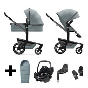Joolz 3 In 1 Kinderwagen Day+ Modern Blue + Autostoel + Adapterset + Base + Voetenzak