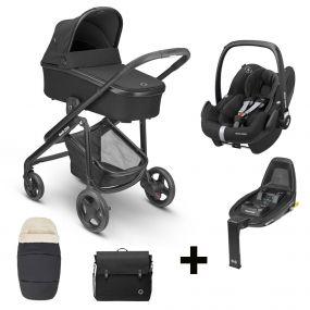 Maxi-Cosi 2 in 1 Kinderwagen Lila CP Essential Black + Gratis Comfort Pack