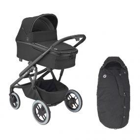 Maxi-Cosi Kinderwagen Lila XP 2 in 1 Essential Black + Voetenzak