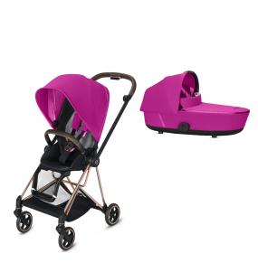 Cybex Kinderwagen Mios Pack Fancy Pink + Reiswieg