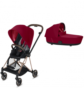 Cybex Kinderwagen Mios Pack True Red + Reiswieg