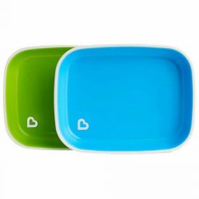Munchkin Bordjes Splash 2-Stuks Groen/Blauw