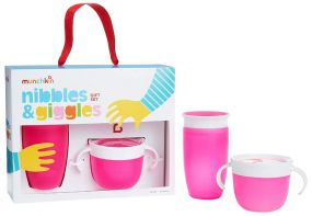 Munchkin Nibbles & Giggles Gift Set Roze