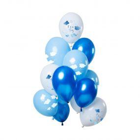 O'that Ballon Clouds Blauw 12st