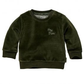 Quapi Sweater Zane Velvet Forest Green
