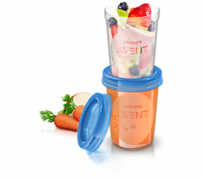 Avent via bewaarbekers 240ml