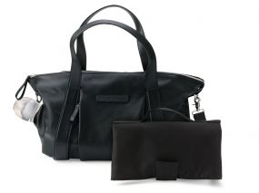 Storksak + Bugaboo Leather Bag Zwart