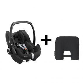 Maxi Cosi Autostoel Groep 0+ Pebble Pro I Size Essenstial Black + Maxi Cosi E-Safety Smart Cushion