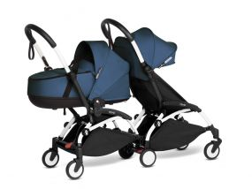 Babyzen Duo Kinderwagen YOYO Connect White/Navy blue